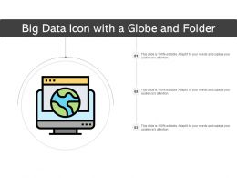 Big Data Icon With A Globe And Folder