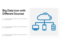 Big Data Icon With Different Sources