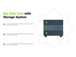Big Data Icon With Storage System