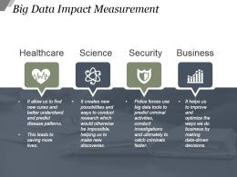 Big Data Impact Measurement Sample Ppt Presentation