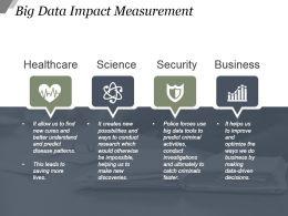 Big Data Impact Measurement Sample Ppt Presentation