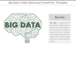 Big Data In Data Warehouse Powerpoint Templates