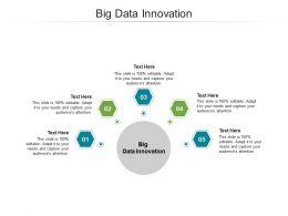 Big Data Innovation Ppt Powerpoint Presentation File Design Inspiration Cpb