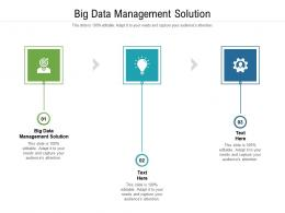 Big Data Management Solution Ppt Powerpoint Presentation Portfolio Pictures Cpb