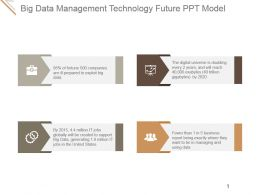 Big Data Management Technology Future Ppt Model
