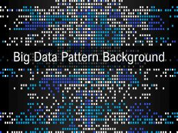 Big Data Pattern Background