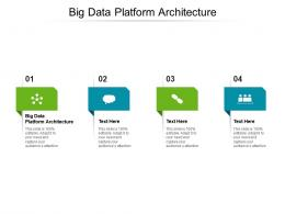 Big Data Platform Architecture Ppt Powerpoint Presentation Infographics Examples Cpb