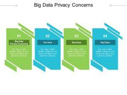 Big Data Privacy Concerns Ppt Powerpoint Presentation Portfolio Deck Cpb