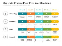 Big Data Process Flow Five Year Roadmap