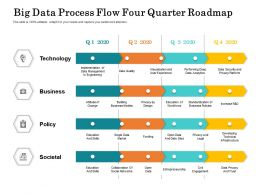 Big Data Process Flow Four Quarter Roadmap