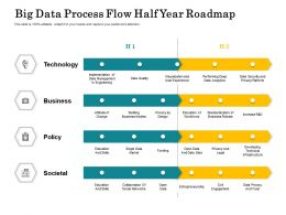 Big Data Process Flow Half Year Roadmap