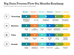 Big Data Process Flow Six Months Roadmap
