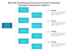 Big Data Processing Environment Cloud Computing Standard Architecture Patterns Ppt Powerpoint Slide