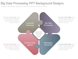 Big Data Processing Ppt Background Designs