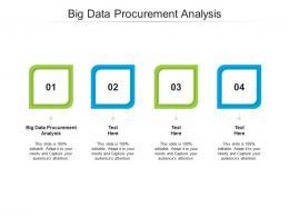 Big Data Procurement Analysis Ppt Powerpoint Presentation Ideas Rules Cpb