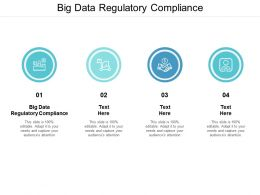 Big Data Regulatory Compliance Ppt Powerpoint Presentation Professional Template Cpb