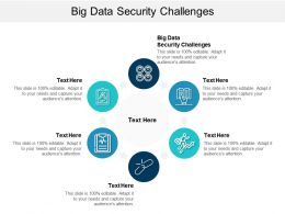 Big Data Security Challenges Ppt Powerpoint Presentation Slides Inspiration Cpb