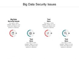 Big Data Security Issues Ppt Powerpoint Presentation Infographic Template Show Cpb