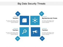 Big Data Security Threats Ppt Powerpoint Presentation Icon Samples Cpb