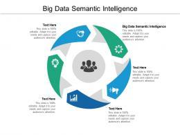 Big Data Semantic Intelligence Ppt Powerpoint Presentation Infographic Template Portfolio Cpb