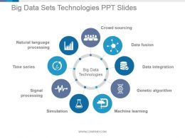 Big Data Sets Technologies Ppt Slides