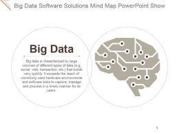Big Data Software Solutions Mind Map Powerpoint Show