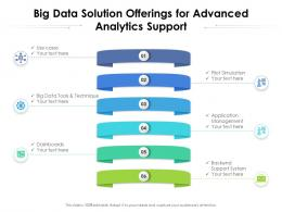 Big Data Solution Offerings For Advanced Analytics Support