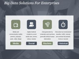 Big Data Solutions For Enterprises Powerpoint Templates
