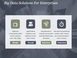 Big Data Solutions For Enterprises Powerpoint Templates
