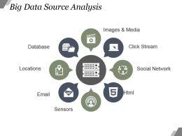 Big Data Source Analysis Powerpoint Graphics