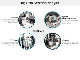 Big Data Statistical Analysis Ppt Powerpoint Presentation Slides Model Cpb