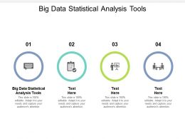 Big Data Statistical Analysis Tools Ppt Powerpoint Presentation Model Example Cpb
