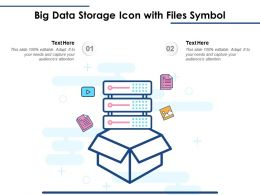 Big Data Storage Icon With Files Symbol