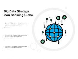 Big Data Strategy Icon Showing Globe