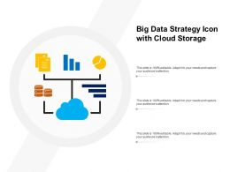 Big Data Strategy Icon With Cloud Storage