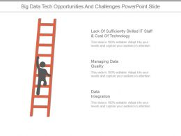 Big Data Tech Opportunities And Challenges Powerpoint Slide