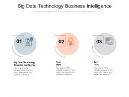 Big Data Technology Business Intelligence Ppt Powerpoint Presentation Professional Infographic Cpb