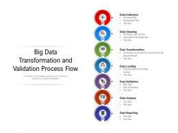 Big Data Transformation And Validation Process Flow