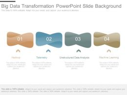 Big Data Transformation Powerpoint Slide Background