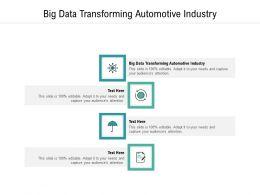 Big Data Transforming Automotive Industry Ppt Powerpoint Presentation Inspiration Skills Cpb