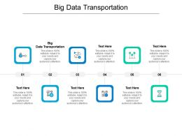 Big Data Transportation Ppt Powerpoint Presentation Ideas Outfit Cpb