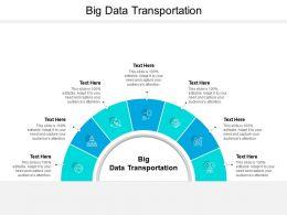 Big Data Transportation Ppt Powerpoint Presentation Professional Example Cpb