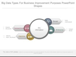 Big Data Types For Business Improvement Purposes Powerpoint Shapes