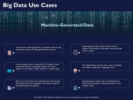 Big Data Use Cases Ppt Powerpoint Presentation Layouts Inspiration
