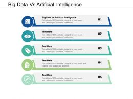 Big Data Vs Artificial Intelligence Ppt Powerpoint Presentation Layouts Slides Cpb