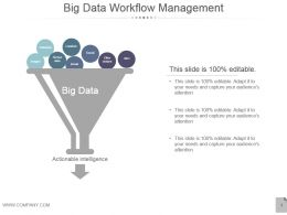 Big Data Workflow Management Presentation Design