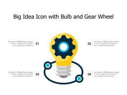 Big Idea Icon With Bulb And Gear Wheel