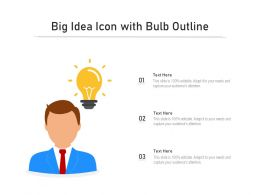 Big Idea Icon With Bulb Outline