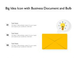 Big Idea Icon With Business Document And Bulb
