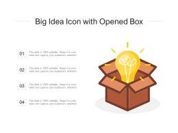 Big Idea Icon With Opened Box
